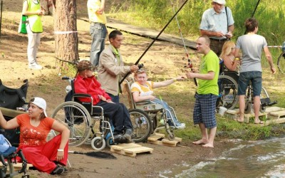 Открытие Всероссийского рыболовного фестиваля инвалидов на колясках