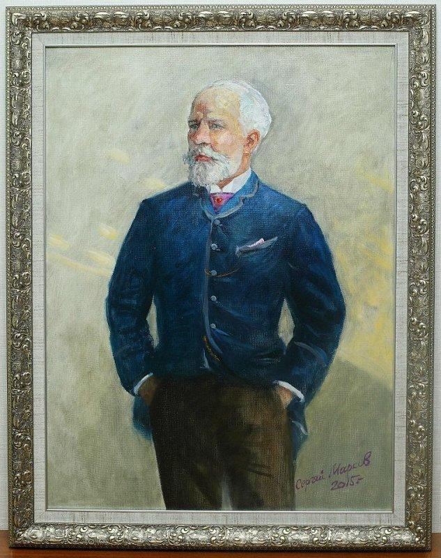 Сергей Марков Портрет П.И. Чайковского, холст, масло, 80*60 см.