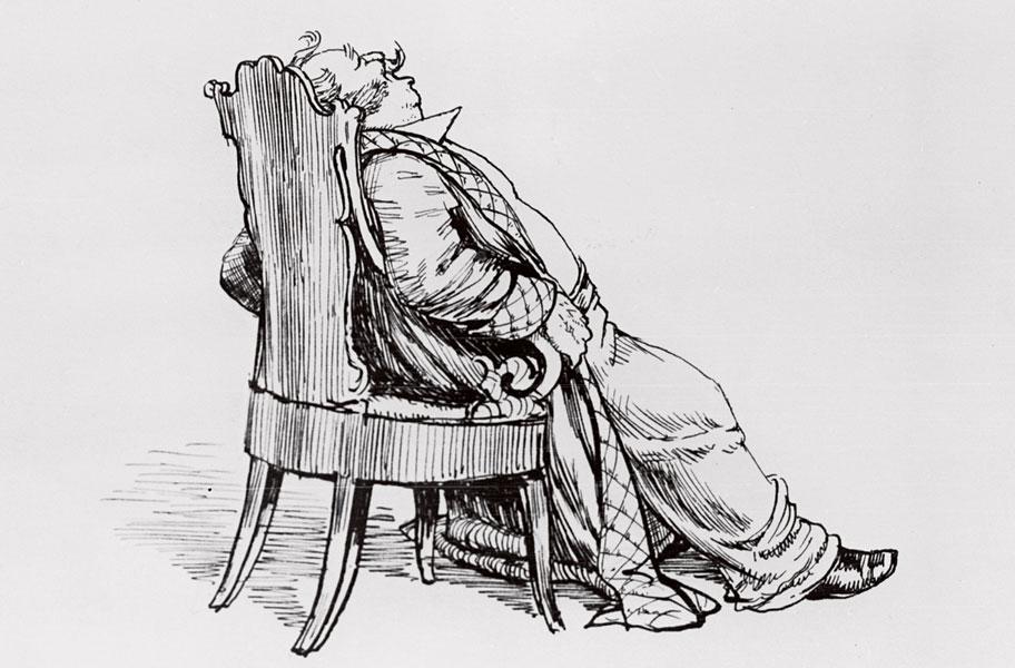 Алексей Лаптев. Иллюстрация к поэме Николая Гоголя « Мертвые души»