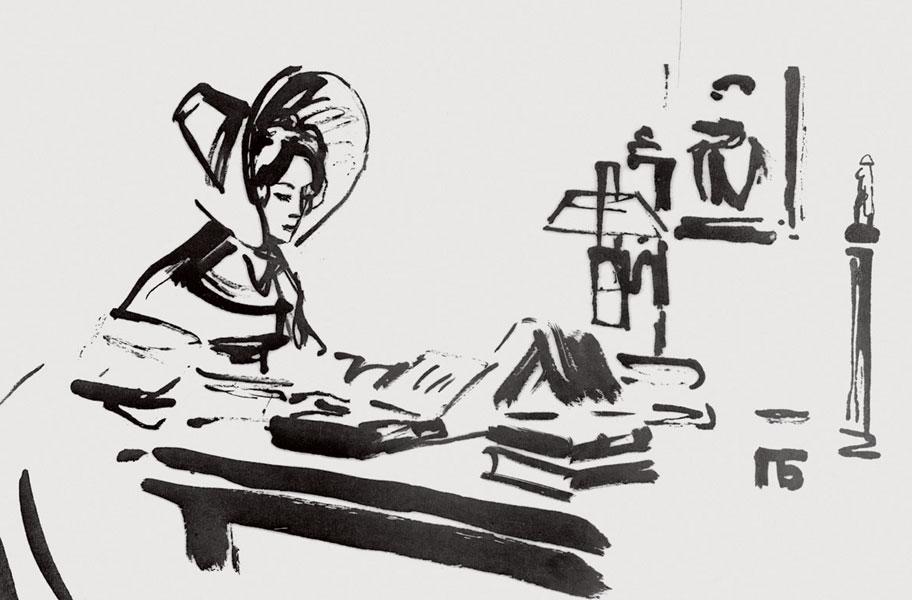 Павел Бунин. Иллюстрация к роману в стихах Александра Пушкина «Евгений Онегин»