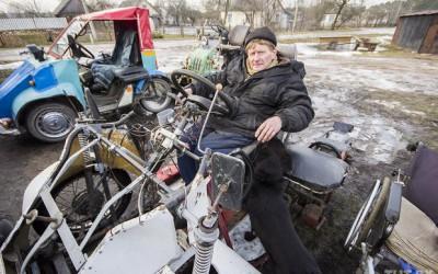 Железный человек. Инвалид-колясочник из металлолома сделал себе лифт, трактор и три «мини-авто»