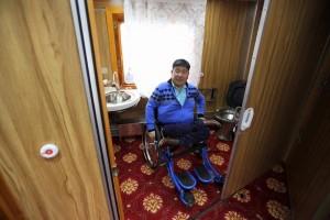 В Монголии запустили первый поезд для людей с ограниченными возможностями.