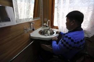 В Монголии запустили первый поезд для людей с ограниченными возможностями.0