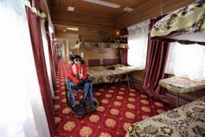 В Монголии запустили первый поезд для людей с ограниченными возможностями.1
