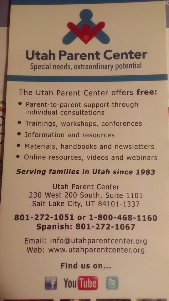 """Special needs, extraordinary potential (Особые потребности, невероятный потенциал) - это слоган родительского центра Юты. В этой организации многое схоже по сти с нашей """"Ассолью"""": организация создана самими родителями для того, чтобы помогать друг другу. РодитЕли детей с особыми потребностями сами организуют взаимную поддержку, тренинги, мастер-классы, конференции. Существует центр с 1983 года за счет небольших грантов без гос.финансирования. Ничего не напоминает? Смайлик «wink» — в Солт-Лейк-Сити."""