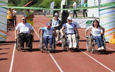 В Ижевске инвалиды-колясочники вышли на дистанцию «Зеленого марафона»