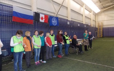 Волонтеры из клуба «Комета» на Фестивале по бочча, приуроченному к Дню инвалидов