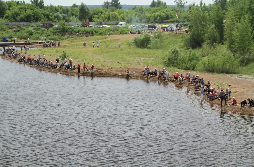 Состоялся VII Республиканский рыболовный фестиваль среди инвалидов. Фото